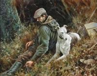 fisherman and greyhound by mick cawston