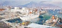 il porto, napoli by vincenzo aprile