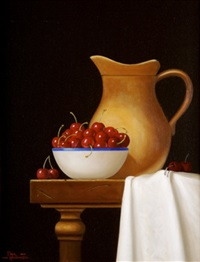 tuscan jug and cherries by paul kavanagh