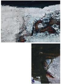 soyut kompozisyon (2 works) by suat akdemir
