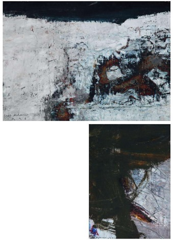 soyut kompozisyon 2 works by suat akdemir
