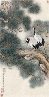 松鹤延年 by liu bonong