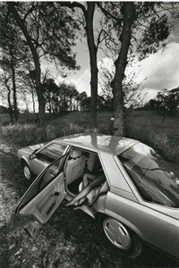 auto-psy, arbres et jambes by jeanloup sieff