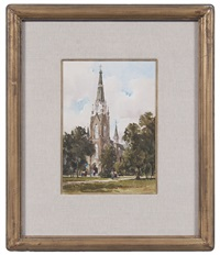 sacred heart church (+ 2 others; 3 works) by lowell ellsworth smith