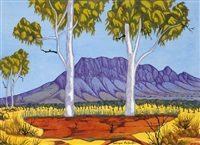 central australian landscape by mervyn rubuntja