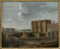 vue de la bastille, de la porte saint antoine et d'une partie du faubourg by jean baptiste nicolas raguenet