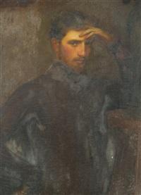 portrait d'homme by gustave claude etienne courtois