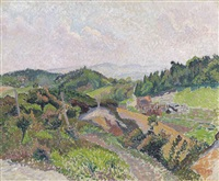 coldharbour from the common by lucien pissarro