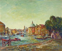 le grand canal à venise by alexis guy korovin