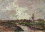 paesaggio con fiume by licinio barzanti