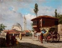 eyüp sultan cami önü by louis emile pinel de grandchamp