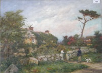at the cottage wall by william banks fortescue