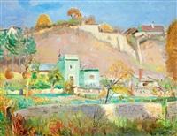 sunlit hill-side (veszprém scene) by istván boldizsár