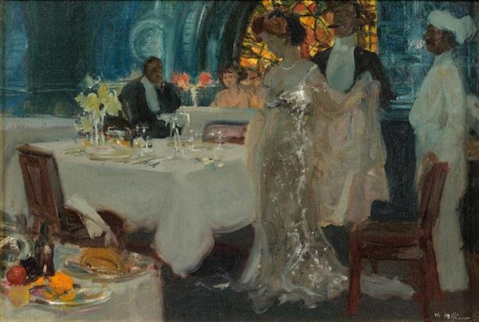 le dîner by charles hoffbauer
