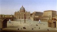 la place saint pierre de rome by biagio barzotti