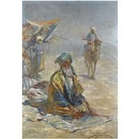 praying elder by georgy gabashvili