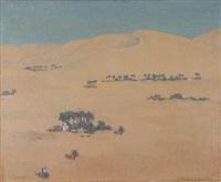 le grand erg (taghit), algérie by jean désiré bascoules