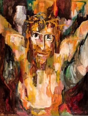 gekreuzigter by helga köcher
