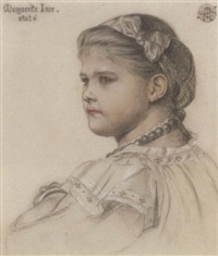 portrait of marguerite ince, aged six by emma sandys