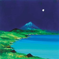 new moon, errigal, county donegal by david gordon hughes