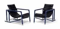 transat armchair chairs (pair) by eileen gray