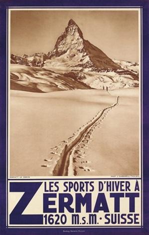 les sports dhiver á zermatt by jean gaberell