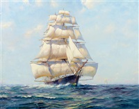 stunsail weather - sovereign of the seas by frank vining smith