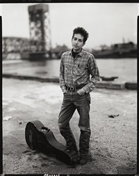 bob dylan, singer, 132nd street and fdr drive, november 4, 1963 by richard avedon
