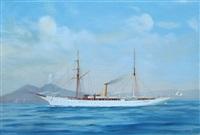 """yacht """"princesse alice"""" dans la baie de naples by de simone"""