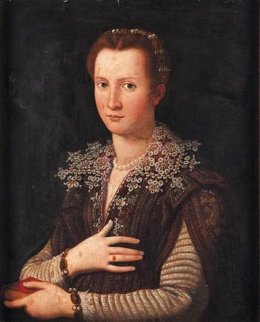 portrait de femme by alessandro di cristofano allori