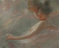 femme au chignon by georges picard