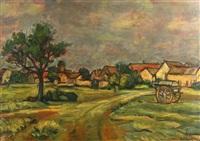 village in the ile-de-france by michel adlen