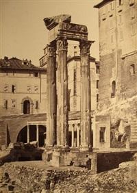tempio di giove tonante (+ veduta del foro romano; 2 works) by giuseppe ninci