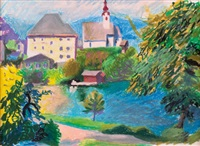 kirche am see by walter honeder