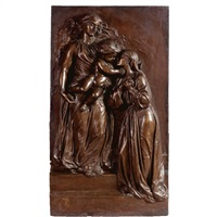 heavenly welcome: a model for a memorial to mrs mary ellen peel and her son archibald by thomas woolner