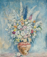 flowers in a vase by max kuehne