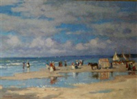 the beach at deauville by valery sekret