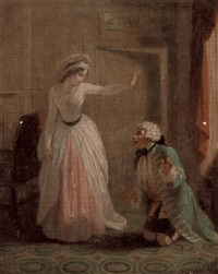 scene from samuel richardson's pamela by robert smirke
