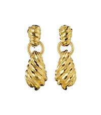 gold ear pendants (pair) by henry dunay