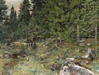 kyr i skogen ulvin by gerhard peter franz vilhelm munthe