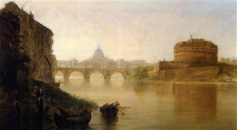 sunset the tiber at rome by george loring brown