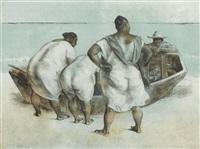 mujeres al mar by francisco zúñiga