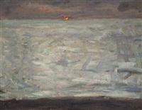 solnedgång över havet by richard (sven r.) bergh