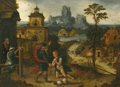 a landscape with the return of the prodigal son by lucas gassel