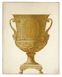 design for a wine cooler by henri auguste