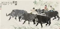牧归图 by xu zhenshi