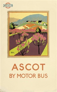 ascot by motor bus (poster) by gregory brown