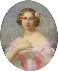 jeune femme au diadème de perles by théodore fantin-latour