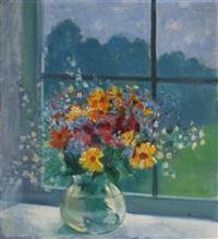 floral still life by bernhard gutmann
