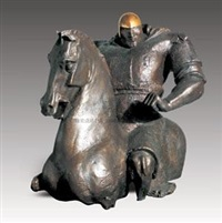 马上英姿 (heroic bearing on horseback) by ren zhe